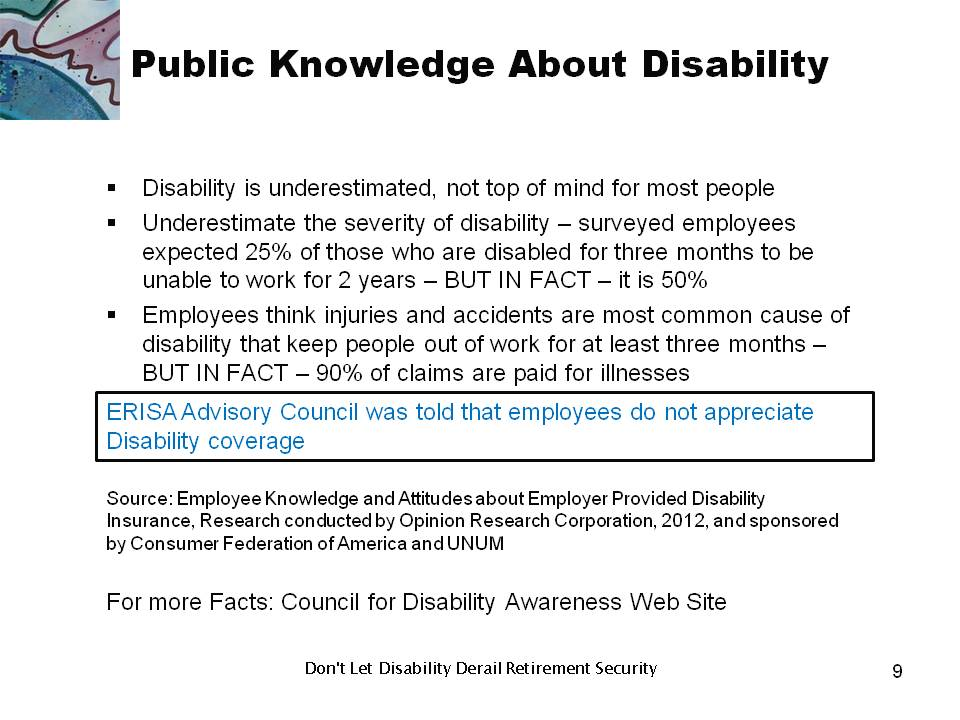 Public Knowledge About Disability