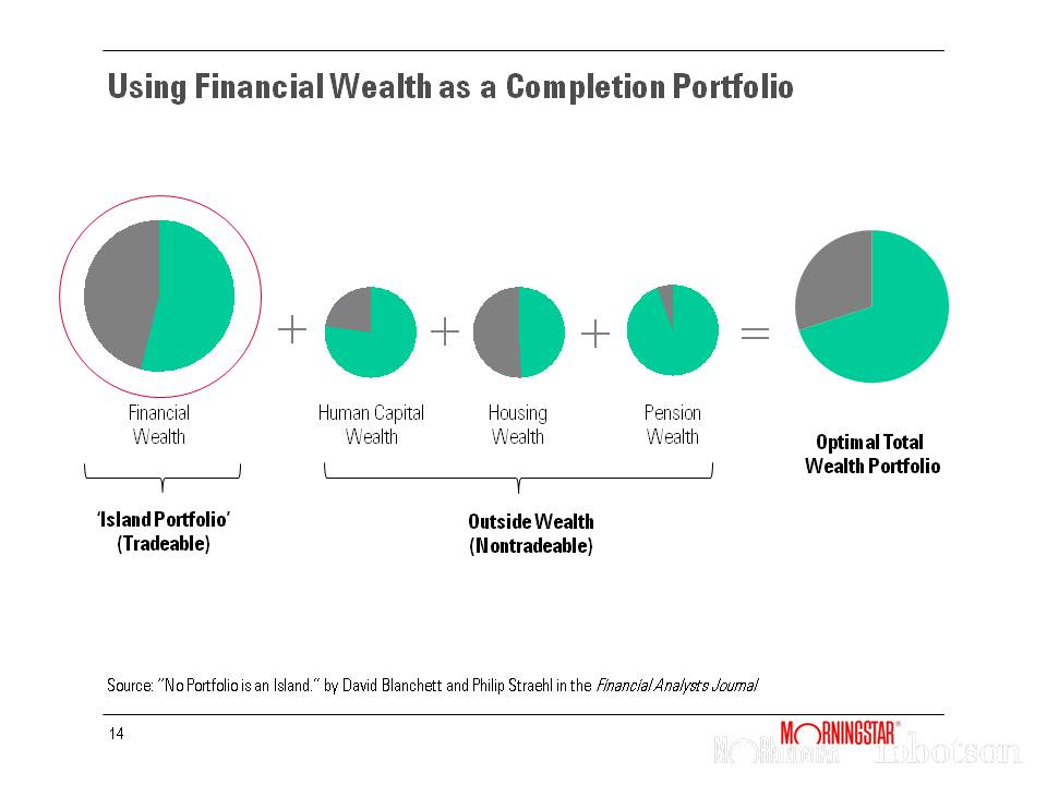 Using Financial Wealth as a Completion Portfolio