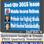 InFRE's 2016 2nd Qtr Issue of Retirement Insight and Trends