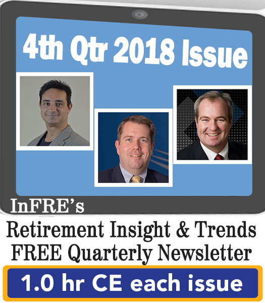 2018 4th Qtr issue – InFRE's free newsletter – 1.0 CE credit