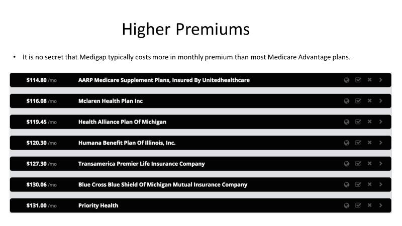 Higher Premiums
