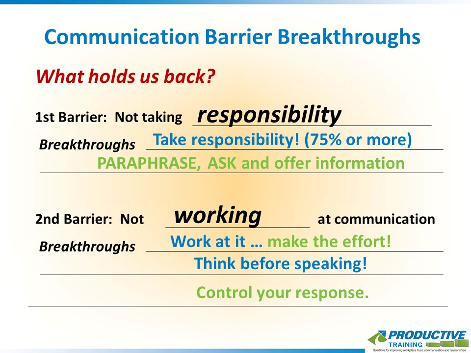 Communication Barrier Breakthroughs