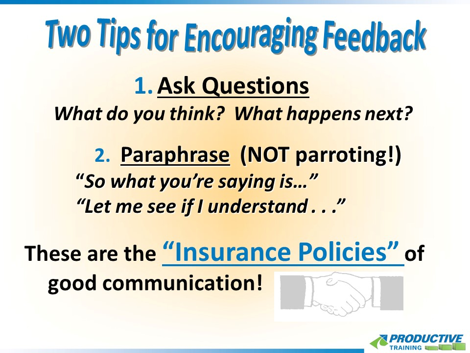 Two Tips for Encouraging Feedback