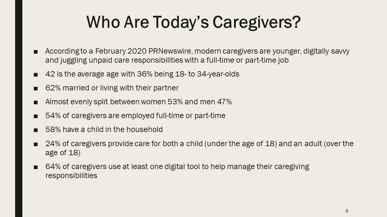 Who Are Today's Caregivers